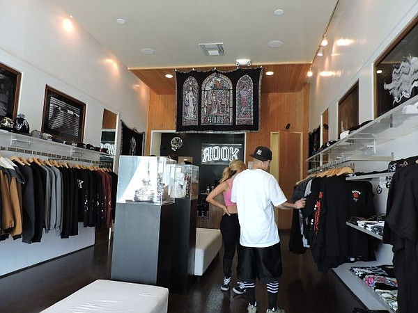 A look inside the Rook pop-up boutique on Fairfax Avenue.