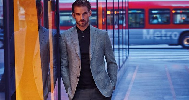 From South Coast Plaza's 2015 Spring Portfolio Lookbook, which was photographed by Diego Uchitel in downtown Los Angeles. Photo via Southcoastplaza.com.