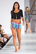 Asher Marie designs on the runway at Los Angeles Swim Week, the London Hotel. July 23rd 2015