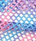 """Triple Textile Inc. #L-612-F """"Tie Dye Polyester Spandex Fishnet Mesh"""""""