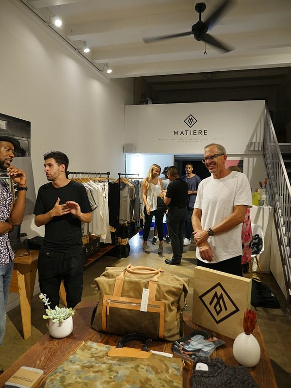 Scene from Matiere's party at Concept 8366 1/2. Matiere co-founder Scot Shandalove pictured at right.