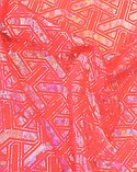"Pine Crest Fabrics ""Hologram Y on Hot Coral"""