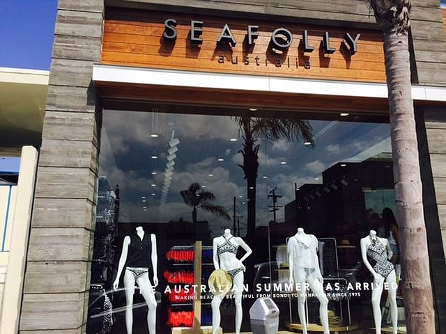 Exterior of Seafolly boutique in Manhattan Beach, Calif. Image courtesy of Seafolly.
