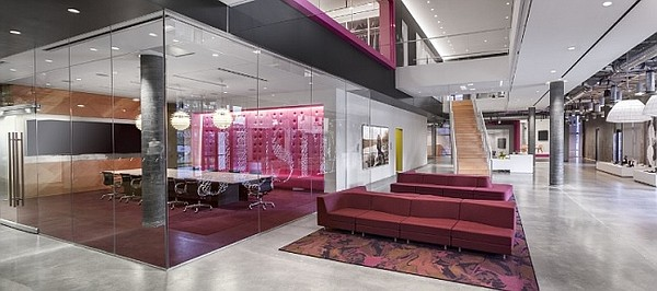 JustFab's new headquarters in El Segundo, Calif.