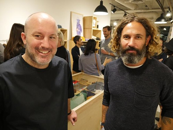 Paul Witt, founder of Wittmore, left, and John Moore, co-founder and creative director of Outerknown.