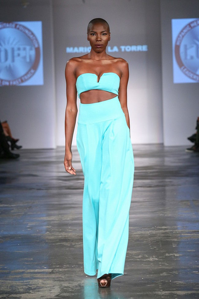 Mario de la Torre designs on the runway at Style Fashion Week during LAFW Oct. 15th 2015.