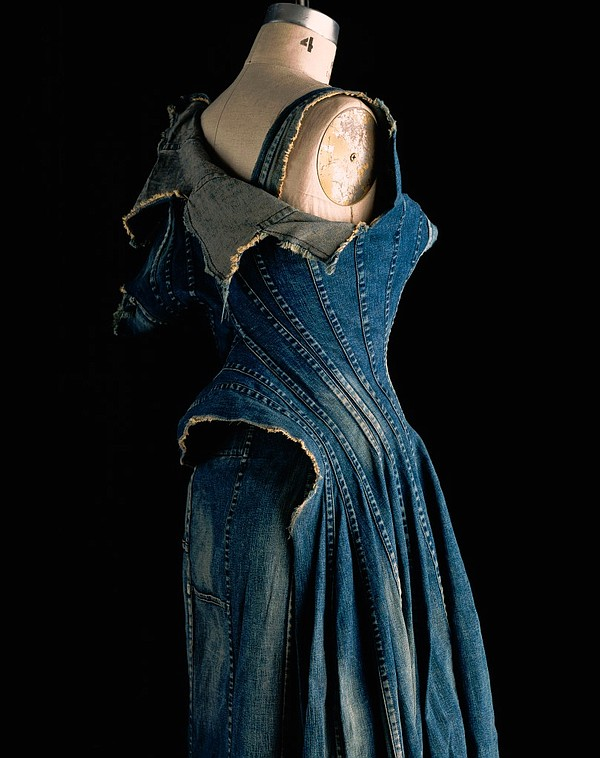 Junya Watanabe repurposed denim dress (2002) Photo by William Palmer