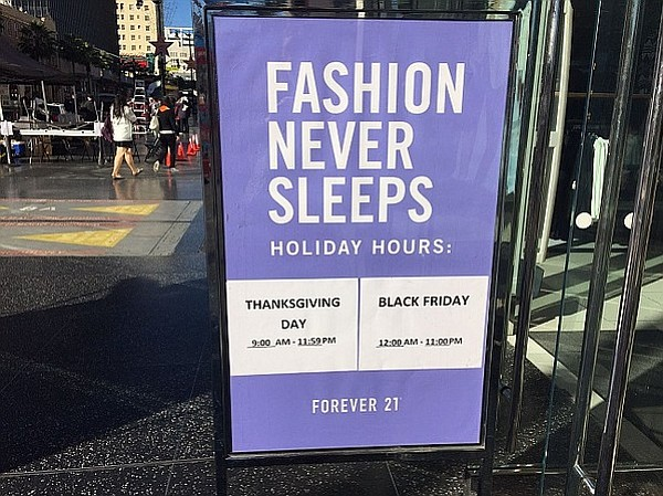 Forever 21 To Open All Day Thanksgiving California Apparel News