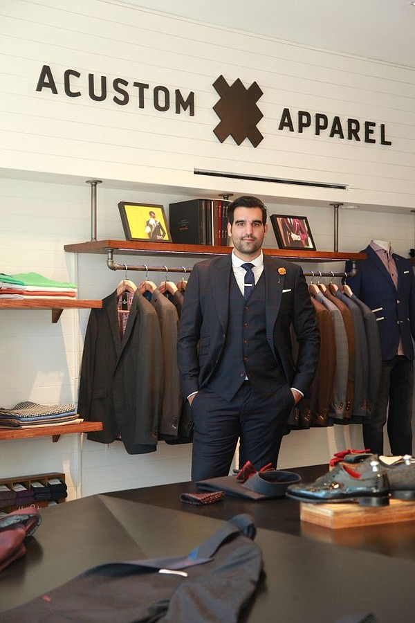 Jamal Motlagh, CEO of Acustom Apparel, at the company's West Hollywood boutique. Photos courtesy of Acustom Apparel.