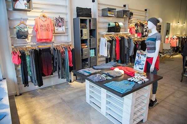 Interior of Sweaty Betty's Venice Beach shop. Photo courtesy Sweaty Betty.