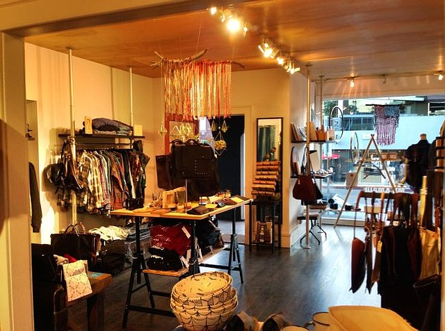 Interior of Merican Made pop-up shop on Abbot Kinney Boulevard. Photo courtesy of Merican Made.