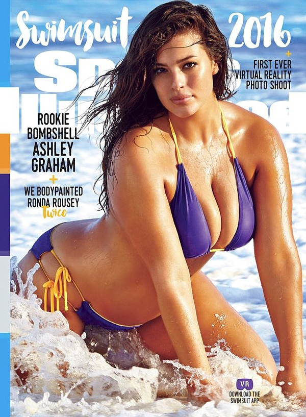Ashley Graham in Trunkettes Swimwear on the cover Sports Illustrated. Image courtesy Trunkettes Swimwear.