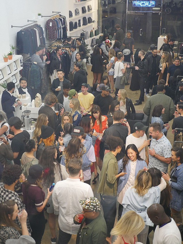 Debut party for Flagship Agency's space in Los Angeles' Fashion District.