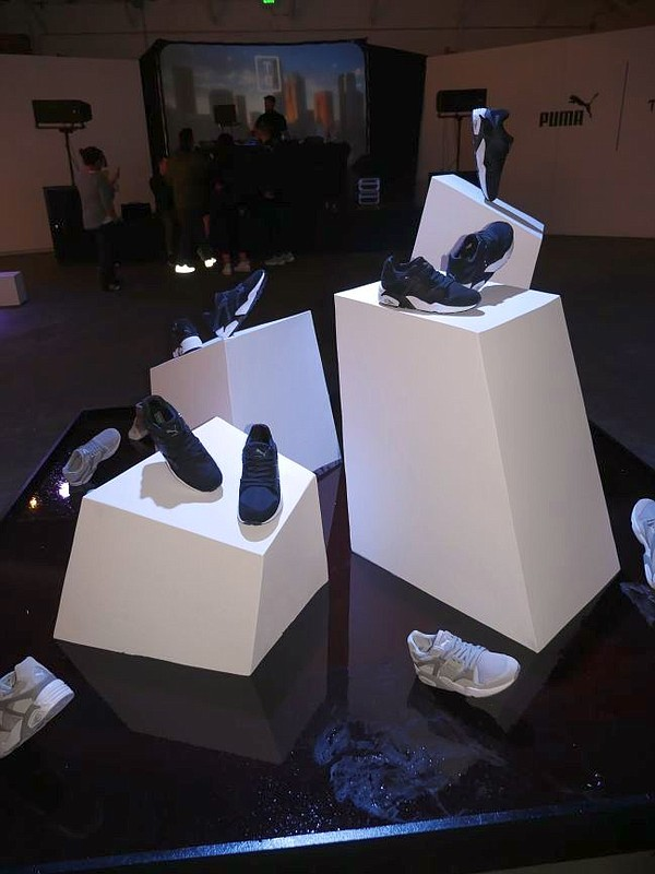 Installation from Puma's Blaze of Glory line at The Well.