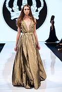 Willfred Genaro designs on the runway at Art Hearts Fashion, during LAFW Monday March 14th.