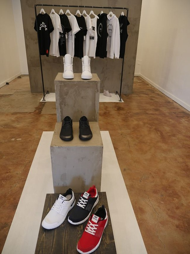 Boutique section of Supra pop-up.