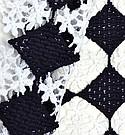 "NK Textile ""Floral Check Crochet"""