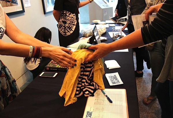Beyond the Label's T-shirt exchange at the Skirball Center