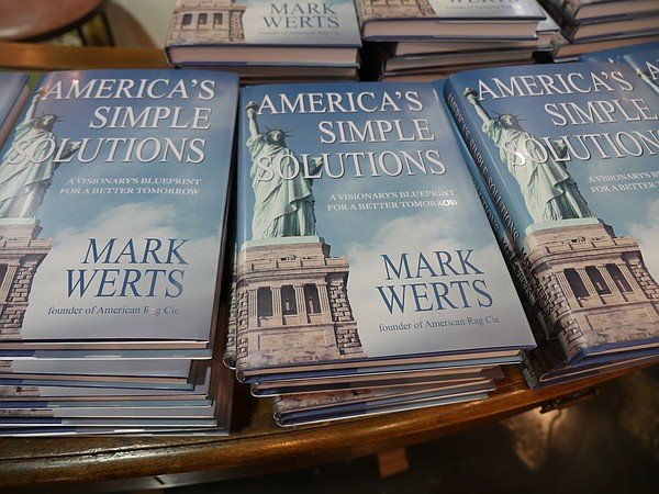 Part of the display of Mark Werts' books.
