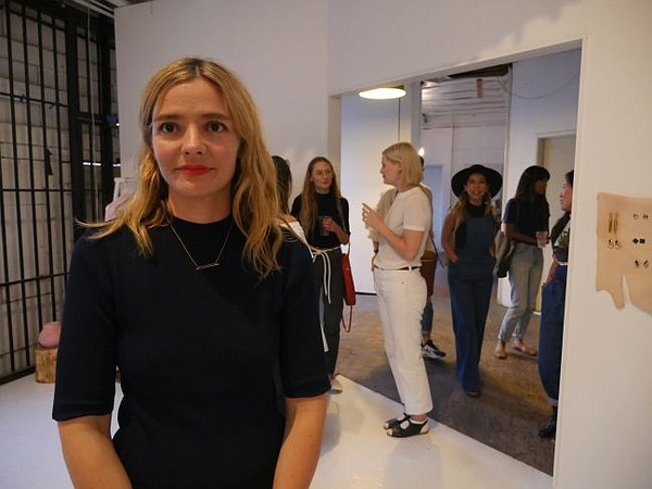 Alexandra Michelle at the opening of Objects Without Meaning pop-up shop.