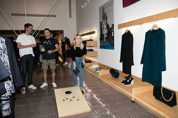 Party goer flexes her cornhole skills at A.P.C.'s Aug 31 party. It was held at the brand's Melrose Place shop. All photos courtesy of A.P.C.