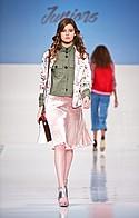 Ashley by 26 International shirt, Angie skirt, Just Found bomber, The Carpet Bag handbag