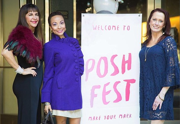 From left, Cindy Rosandich, Isa Orris and Erika Z Gannon at PoshFest 2015. Image courtesy Poshmark.