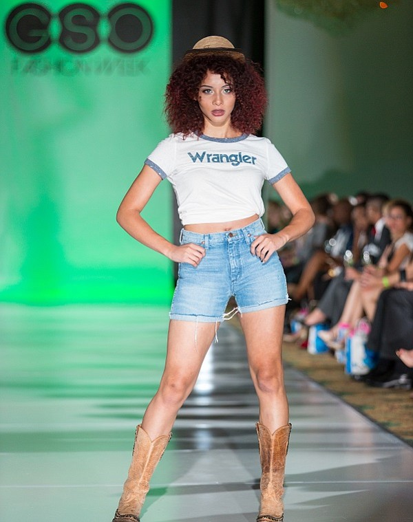 Wrangler on the runway at Greenboro Fashion Week