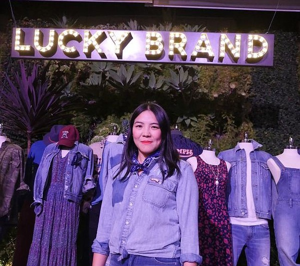 Kin Ying Lee, creative director of Lucky Brand, at the brand's Spring Summer 2017 preview in Culver City, Calif.
