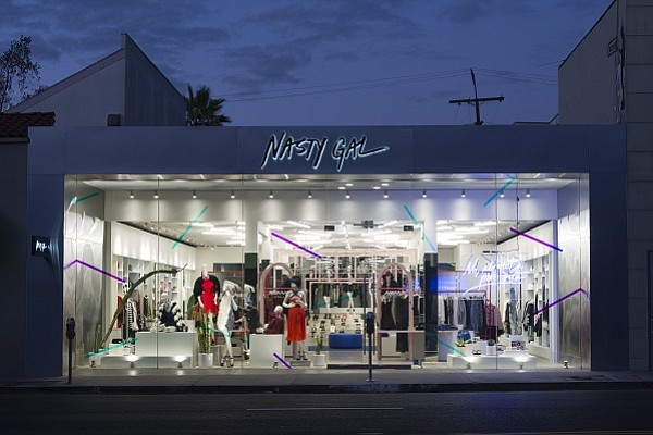 Nasty Gal's Melrose Avenue boutique (photo by Jeff McLane)