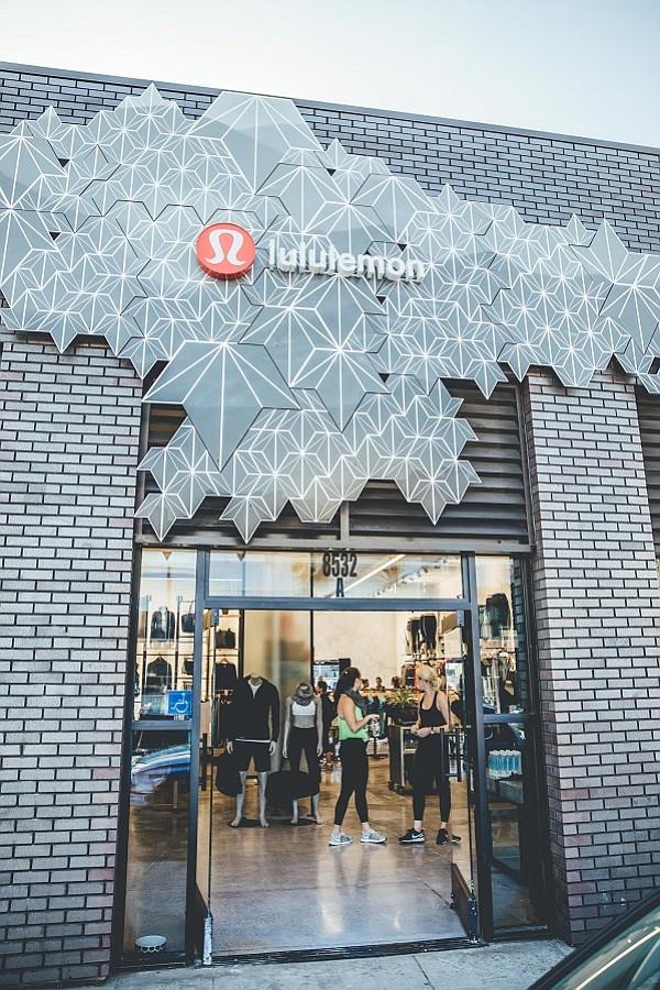 Lululemon's store on Melrose Avenue in LA