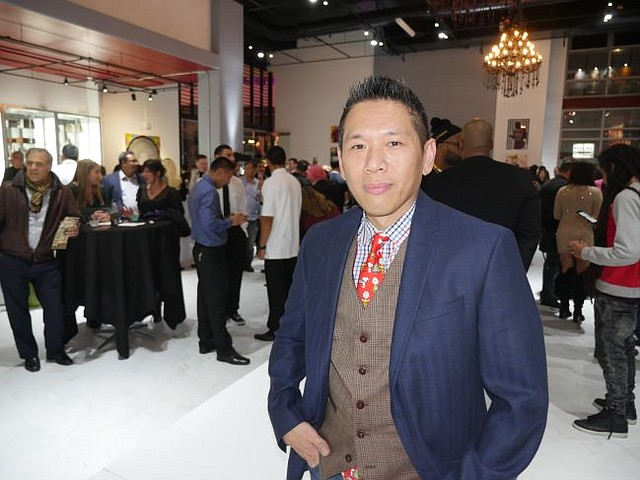 Kuo Yang at the Dec. 16 party for Brigade LA's debut and holiday drive.
