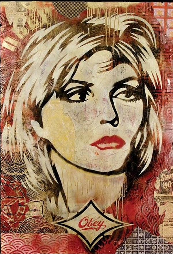 Shepard Fairey's 2005 Debbie Harry poster. Via TheGiant.org.