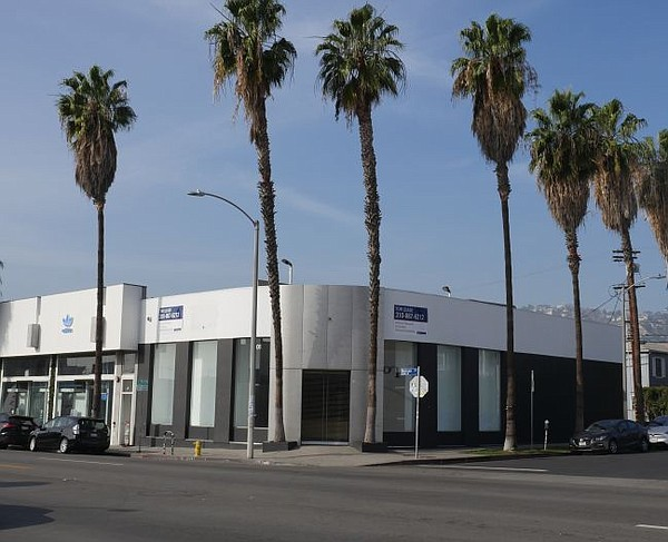 New Era flagship building at 8100 Melrose Ave. in December 2016.