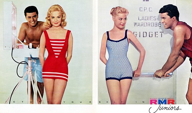 "Rose Marie Reid suit in ""Gidget"" movie"
