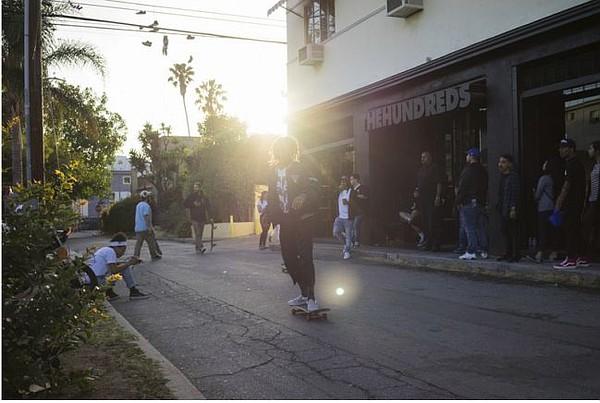 Artsy shot of The Hundreds flagship in Los Angeles' Fairfax District. Image via thehundreds.com