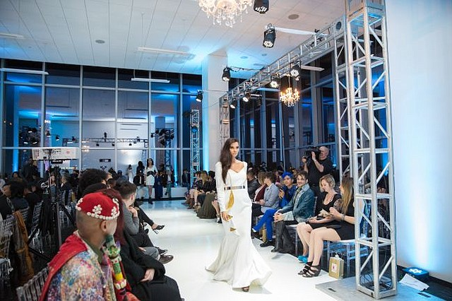 A piece from Marcell von Berlin takes the runway at Ivan Bitton Style House Presents Always In Fashion show on Feb. 13. Images courtesy of Ivan Bitton Style House.