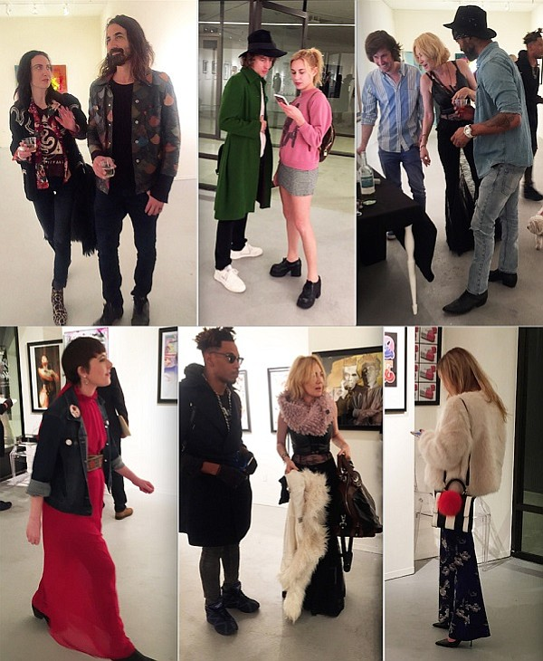 Some of the fashionistas who turned out for the private view night for Art Below.