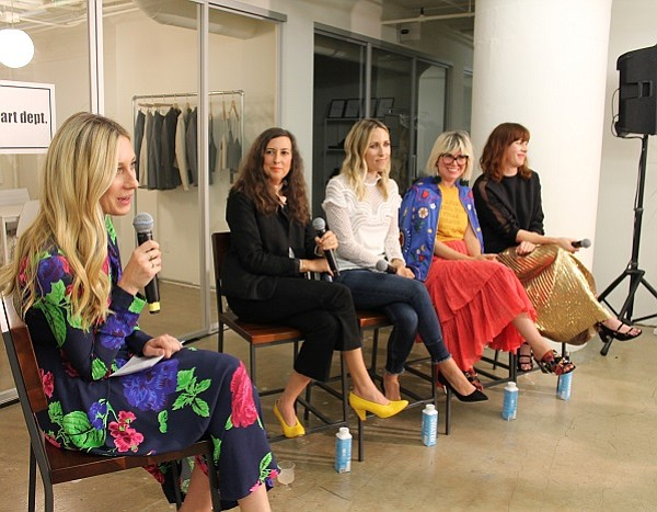 Nicky Deam, editorial director of The Zoe Report, pictured at left, moderated the panel, which included Clare Vivier, founder and designer of Clare V. bags; Jacey Duprie, editor and founder of Damsel in Dior blog; Jen Gotch, founder and chief creative officer of Ban.do and stylist Penny Lovell.