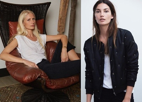 Velvet by Graham and Spencer will launch a collaboration with model Kirsty Hume (pictured, left) this summer. The company has collaborated in the past with model Lily Aldridge (pictured, right).