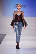 A. Peach mesh top, Living Doll bodysuit, Ashley Mason jean