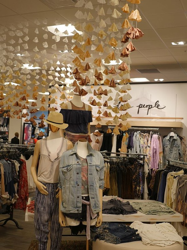 Free People brand installation at Macy's at Westfield Century City.