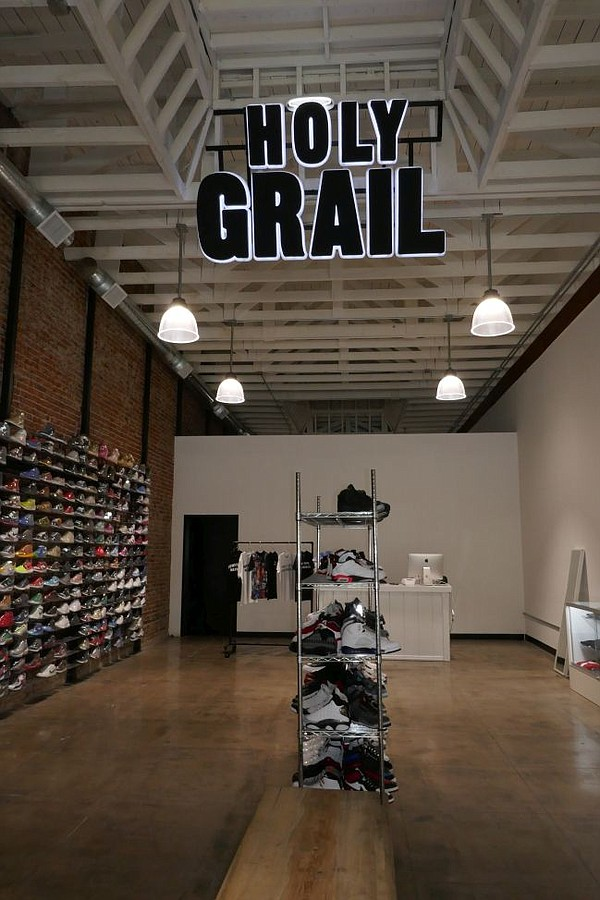 Interior of Holy Grail boutique in Fashion District.