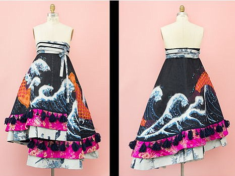 Designer Chris Chang helped Siana Kim create this dress being donated by Kim.