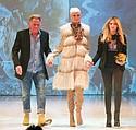 Mentor John Murrough with model and student winner Hanna Dorman