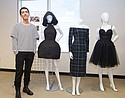 Roman Ibarra, Long Beach City College, winner of the Design Award from Velvet Heart and the Presentation Award from California Apparel News