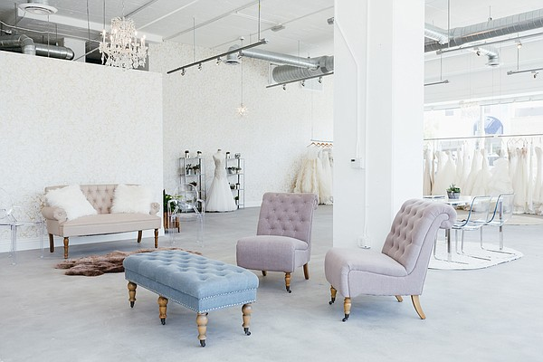 Interior of Kinsley James salon on West Third St. Images by Monica Wang.