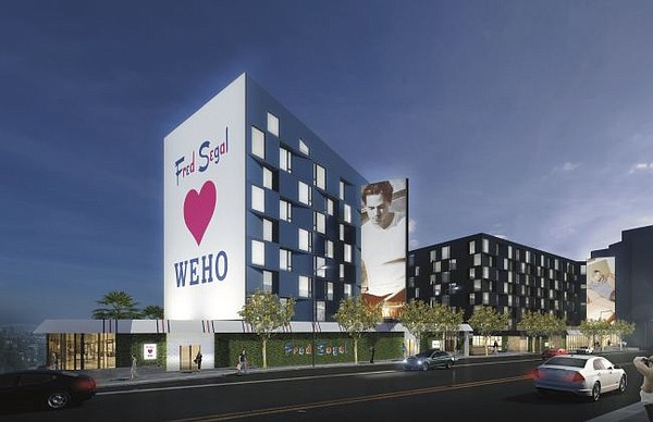 Rendering of upcoming Fred Segal shop in West Hollywood. Image courtesy of Fred Segal.
