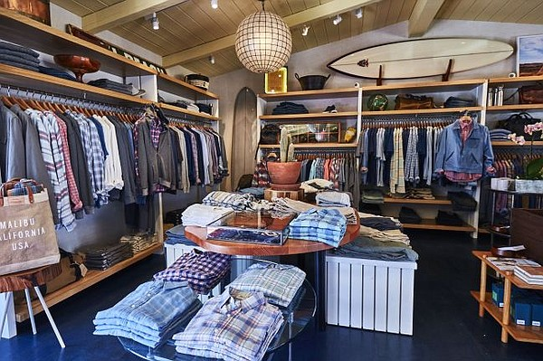 Faherty boutique in Malibu. Images courtesy of Faherty.