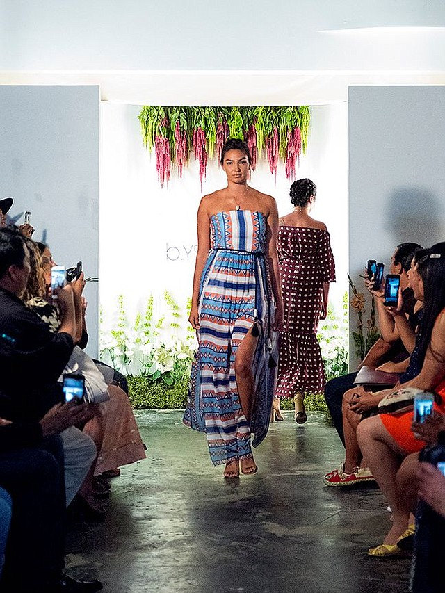 A look from B.Yellowtail's Summer 2017 show on June 16. Images by The IT Factory.